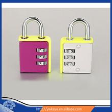 Latest design Colorful code padlock/cute combination lock