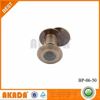 Large size brass door peephole viewer with glass lens