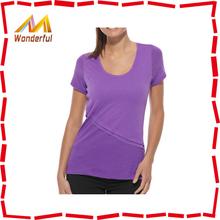 Popular fashion ladies sports tshirts/women tshirt