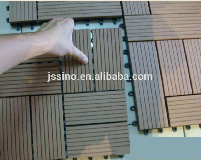 Garden tile self installing wpc decking tiles patio flooring tiles outdoor interlocking plastic - How to install interlocking deck tiles ...