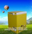 208l movido a energia solar dc compressor freezer horizontal placa superior com porta de correr