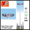 hot dip galvanized outdoor high mast lighting poles solar power street light