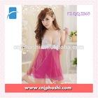 2014 Ladies Sexy Pink Lace Cute Sexy night wear backless night sleeping dress Hot Sexy Night wear