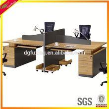 chipboard computer workstation desks 3 person office workstation