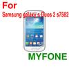 Myfone high clear mobile LCD screen protector for Samsung galaxy s duos 2 s7582