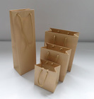 Eco-friendly printed flexible kraft bag with paper handled gift sets