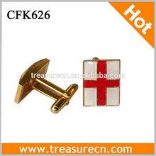 Gold Epoxy Soft Enamel Customized Metal Cufflink