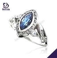 2015 graduation souvenir blue stone stretch ring base