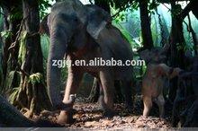 Animatronics simulation large life size elephant statues elephant sculpture