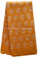 Big lace cotton lace japanese printed cotton fabric 2027 orange indonesia cotton printed fabric