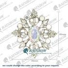 Rainbow High Quality Wholesale China Crown Pin Rhinestone Brooches TS1103582