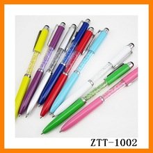 Customize New Fashion Cheap Creative Metal Feature Crystal Promotional Touch Ballpoint Pen With LogoZTT-1002