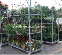 2014 hot sale greenhouse metal flower pot rack