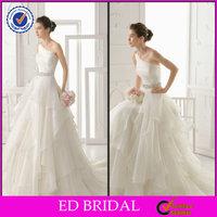 EDW600 Fancy Ruffle Crystal Rhinestone Belt for Online Shop Wedding Dress Sale