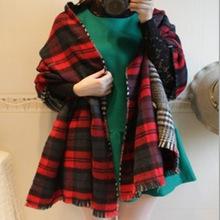 2014 lady winter knitting scarf /lady thick shawl / tassels long lady scarf