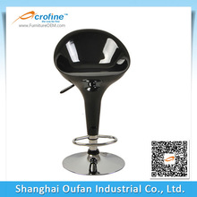 ABS1003 ABS Acrofine High back Black color Plastic Bar Stools