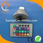 IR control 16 colors E14 B22 MR16 GU10 E27 led RGB spotlight 3W 4W 5W