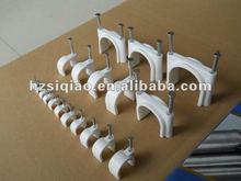 Circle Nail Cable Clip plastic nail hook cable clip