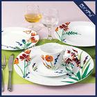 Round Shape super white 20pcs Dinner Set fresh cut flower Design F2023