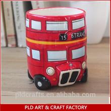 new products for red elegant 3D dolomite ceramic london bus mug for souvenir gift promotion