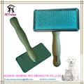( m) pr80032-2 profesional diseño baratos de largo mango de madera suave pins de imprimación cepillo para perros