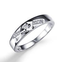 2014 The Most Popular Light White Lucky Stone Finger Ring