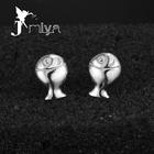 1.1g real 925 sterling silver jewelry earrings sterling silver stamped 925 earringsJmiyaS925E051