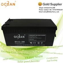 Rechargeable vrla lead acid battery 200ah 12v battery ups