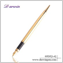 Gold and silver luxury and best quality fountain pen for gift
