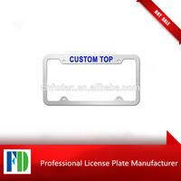wholesale zinc alloy usa car rear license plate frame