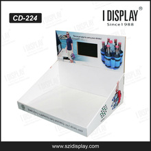 POP cardboard video counter display for bottle retail