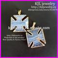 Kjl-bd5228 gros agate pendant naturel, natural blue lace agate pendentif bijoux, main bijoux pendentif
