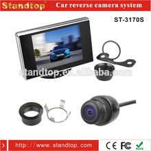 2 install ways reversing camera and 3.5 inch car monitor kit