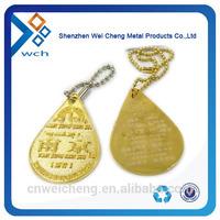 Fashionable custom metal tags with hang chain