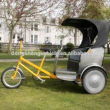 Denmark human- power rickshaw passenger tricycle