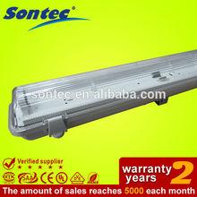 2X36w ip65 t8 outdoor waterproof fluorescent ceiling light fixture