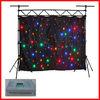 HOT WLK-1F Black fireproof Velvet cloth four leds star backdrop club led stage decorations curtain