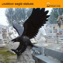white,black intrepid outdoor eagle statues