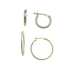 10mm Diameter - 1.5mm Yellow Elegant Clutch Hoop Earrings hoop earrings wholesale china