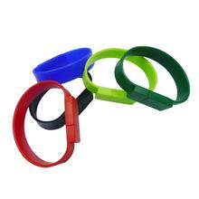 wrist band usb flash drive 16gb bulk cheap bracelet pen drive