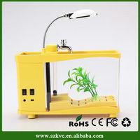2014 HOT SELLING USB Mini Desktop Aquarium, Delicate ecological Fish Tank Aquarium (IN STOCK)