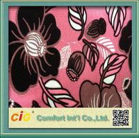 Latest Floral Design Flocking Fabric For Sofa Funiture