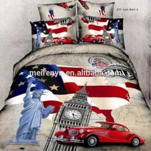 new design 100% cotton hot sale & wholesale American style 3D bedding set