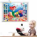 zooyoo sirenita pvc pegatina 3d papel pintado para la decoración del hogar de dibujos animados de la pared calcomanía