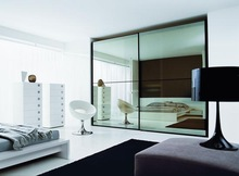 Wholesale wall mounted bedroom sliding mirror wardrobe doors