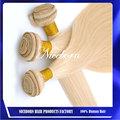 color 613 rubias extensiones de la armadura del pelo recto del pelo humano