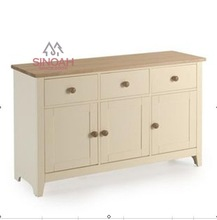 721 solid pine wood with ash top 3 drawer 3 door sideboard/dining room furniture