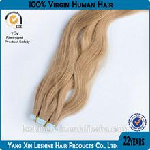 2014 ali express adhensive Italian Keratin fusion wavy skin weft tape remy hair extensions