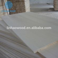 Bleached paulownia edge-glued panels