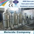 3-4 toneladas por hora de tratamiento de agua de la planta con el precio